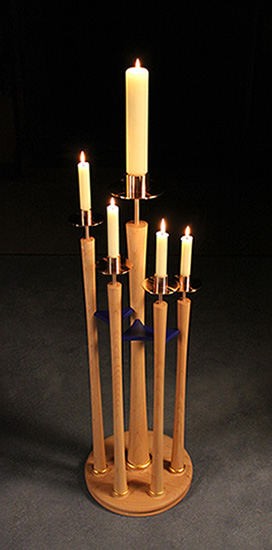 St Mary's Church, Beaminster, Dorset - Advent candle stand