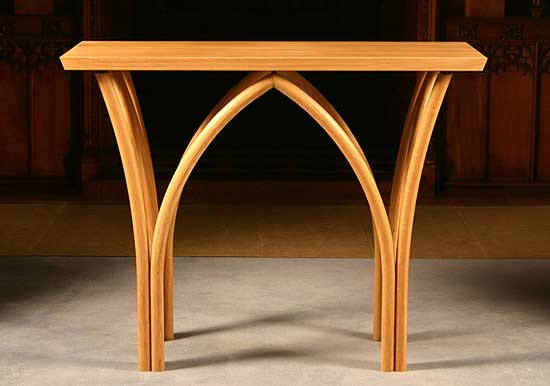 Ronald Emett Hand Made Church Furniture Nave Altar