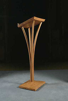 Lectern in English oak - St Mary's Church, Shrewton, Wiltshire - more information and an enlarged image - more information and enlarged images